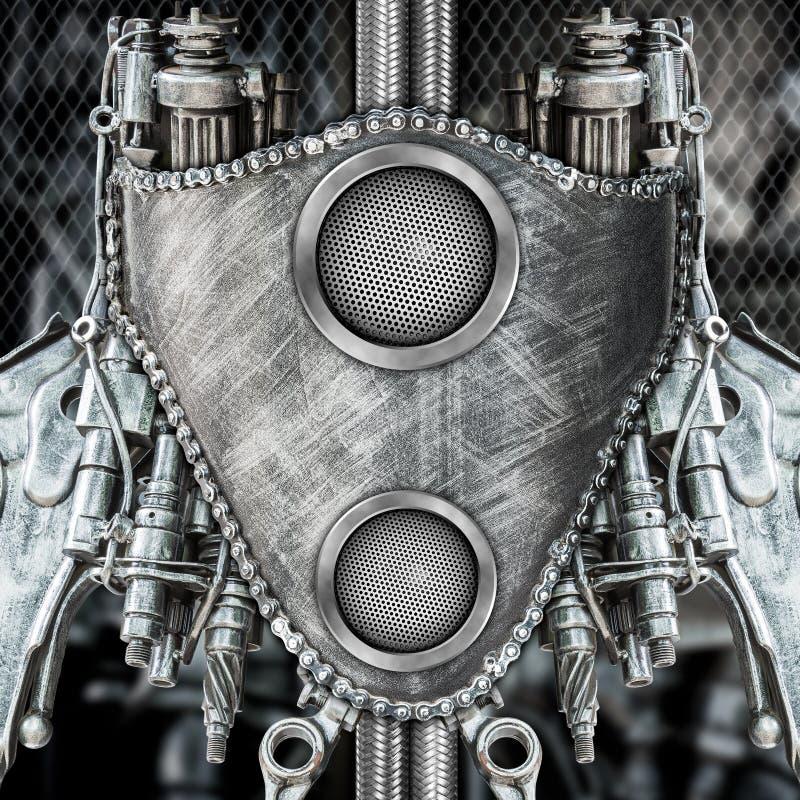创造性的金属机器人 免版税库存图片