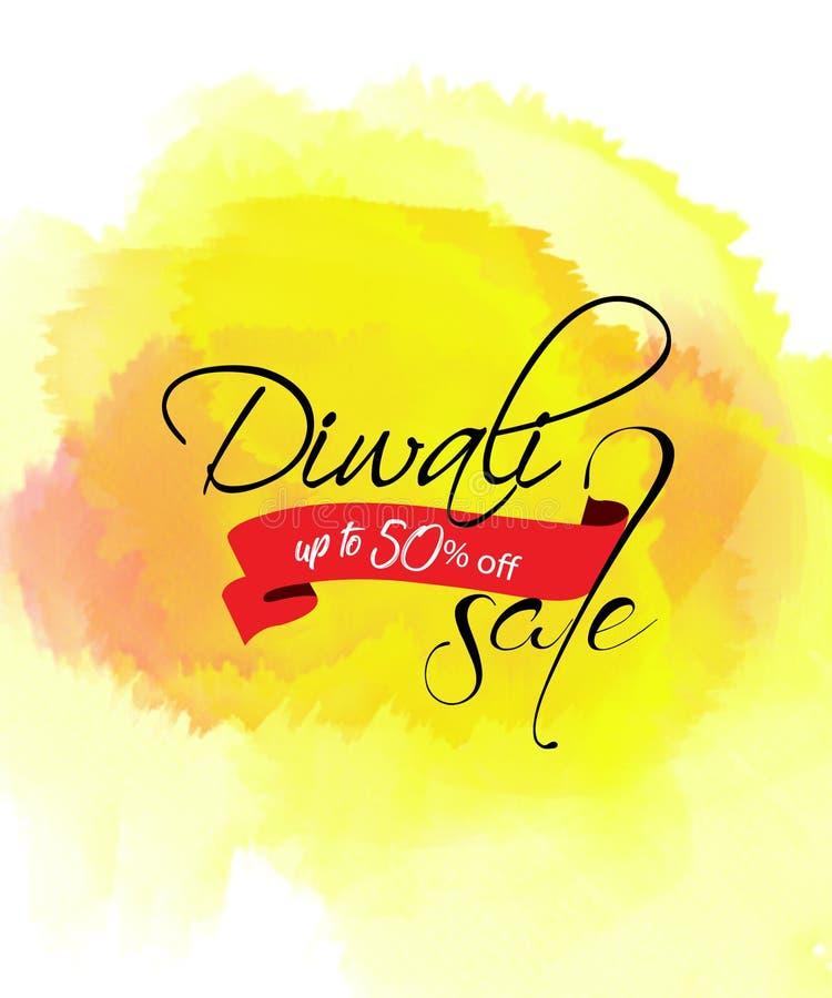 创造性的销售横幅或销售海报diwali庆祝背景节日的  向量例证