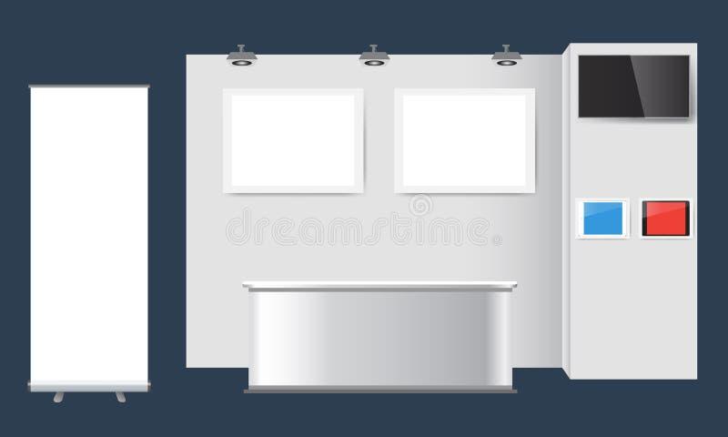 创造性的陈列立场设计 摊模板 公司本体传染媒介 向量例证