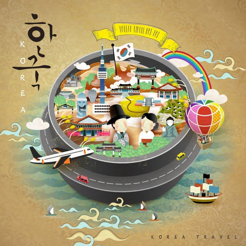 创造性的韩国海报 皇族释放例证