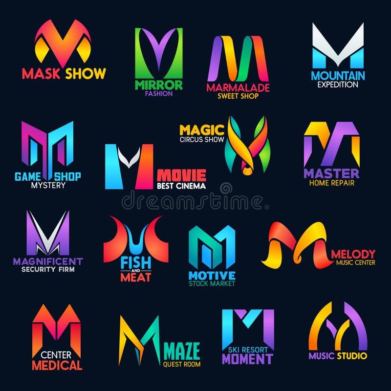 创造性的颜色设计公司本体M象 皇族释放例证