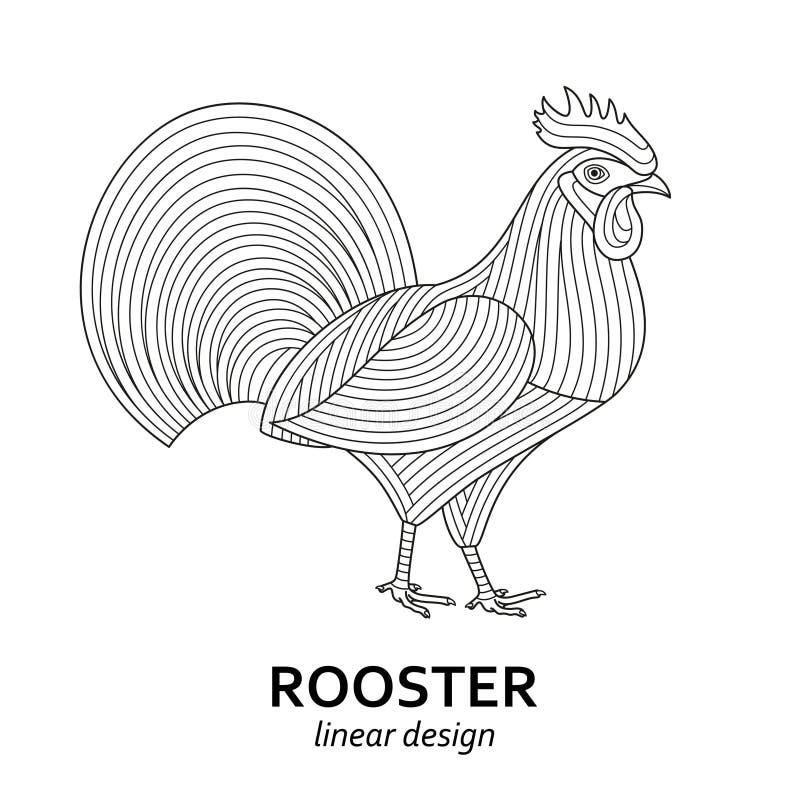 创造性的风格化雄鸡 向量例证