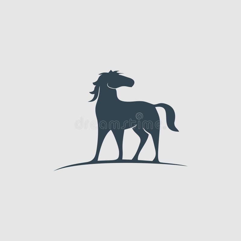 创造性的马组合图案设计商标启发 库存例证