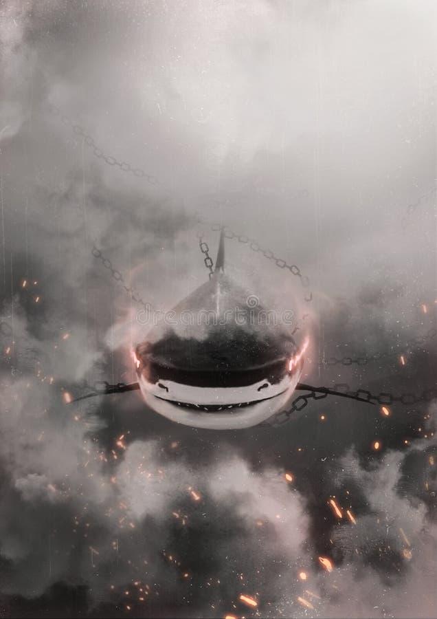 创造性的鲨鱼 库存例证