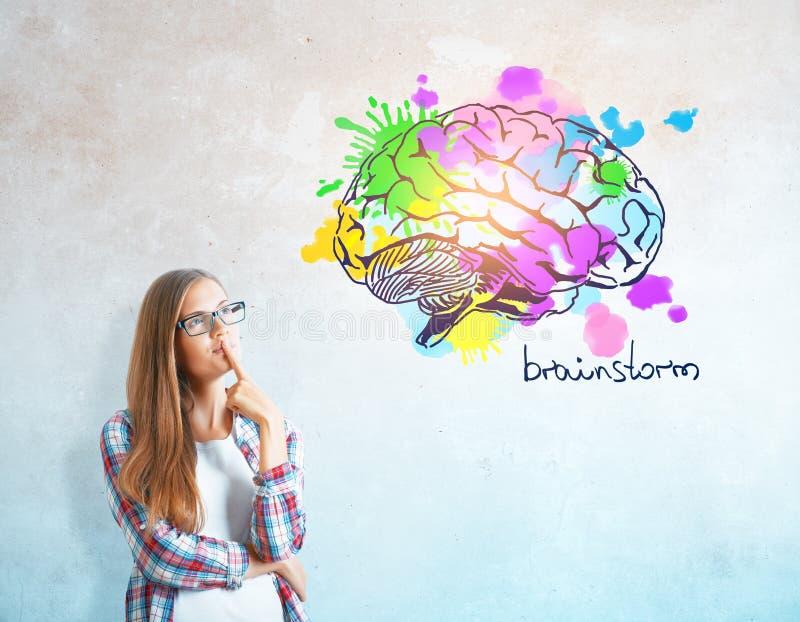 创造性的头脑概念 免版税库存照片
