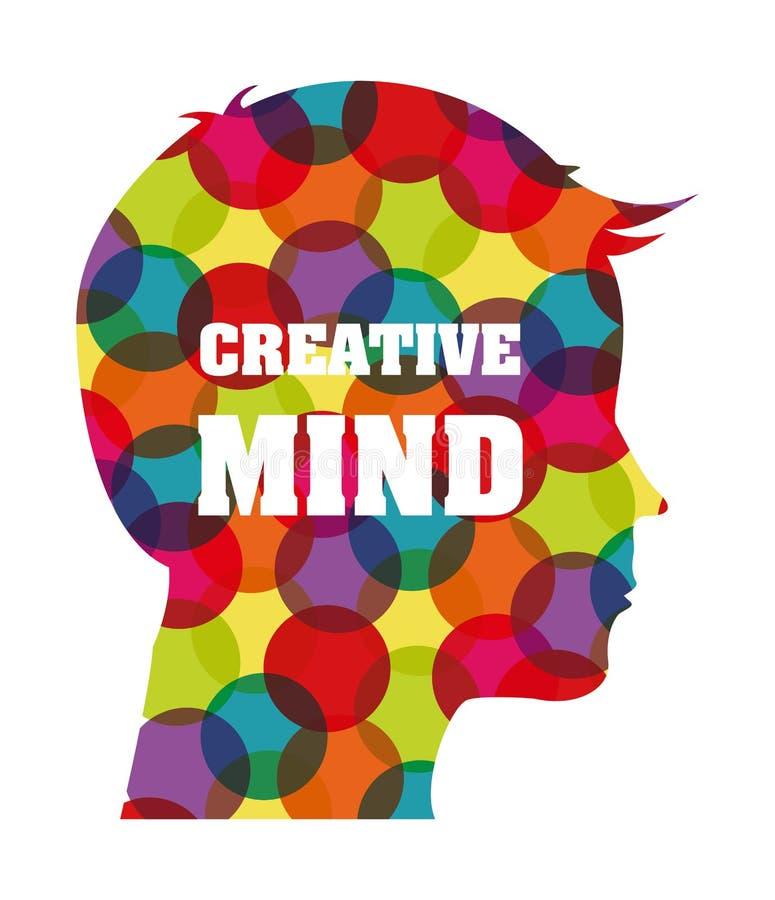 创造性的头脑 库存例证