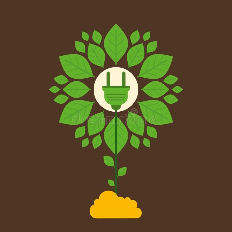 创造性的绿色能源设备设计观念 库存例证