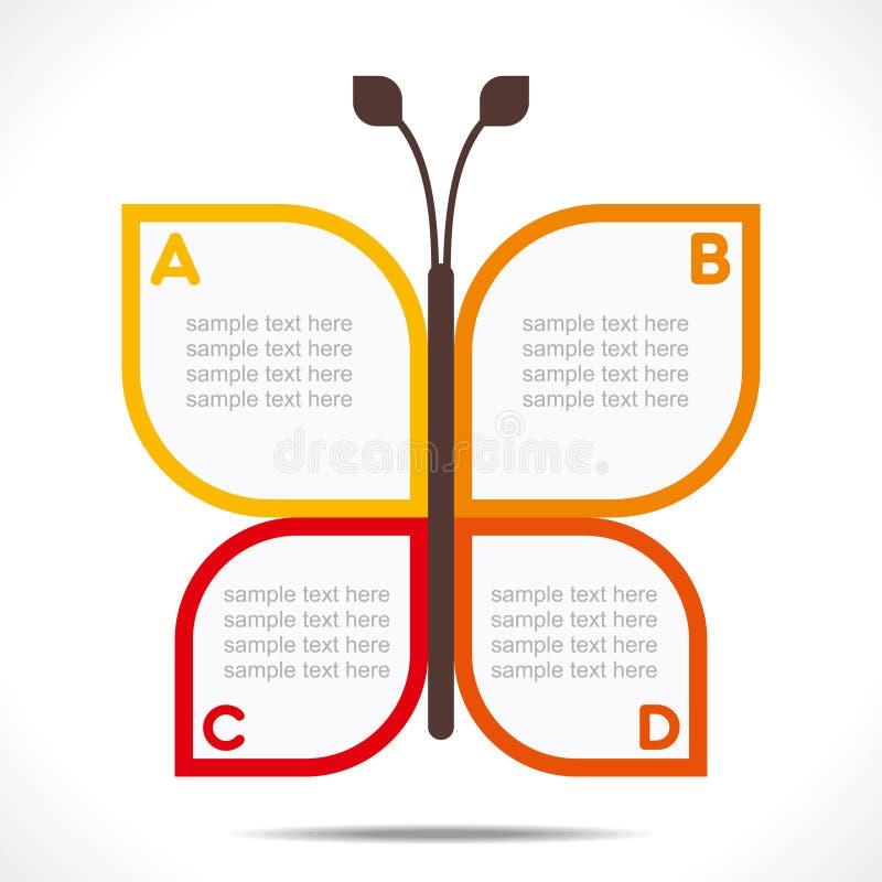 创造性的蝴蝶信息图表 库存例证