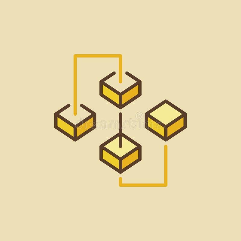 创造性的blockchain五颜六色的传染媒介象或标志 皇族释放例证