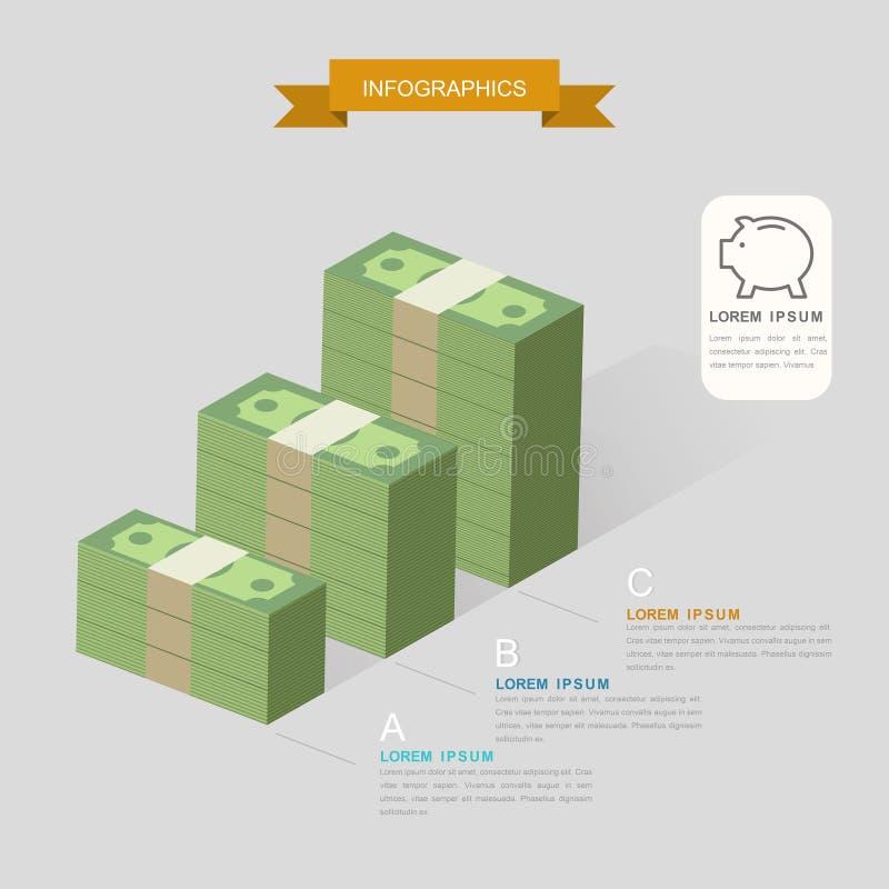 创造性的Infographic模板 向量例证