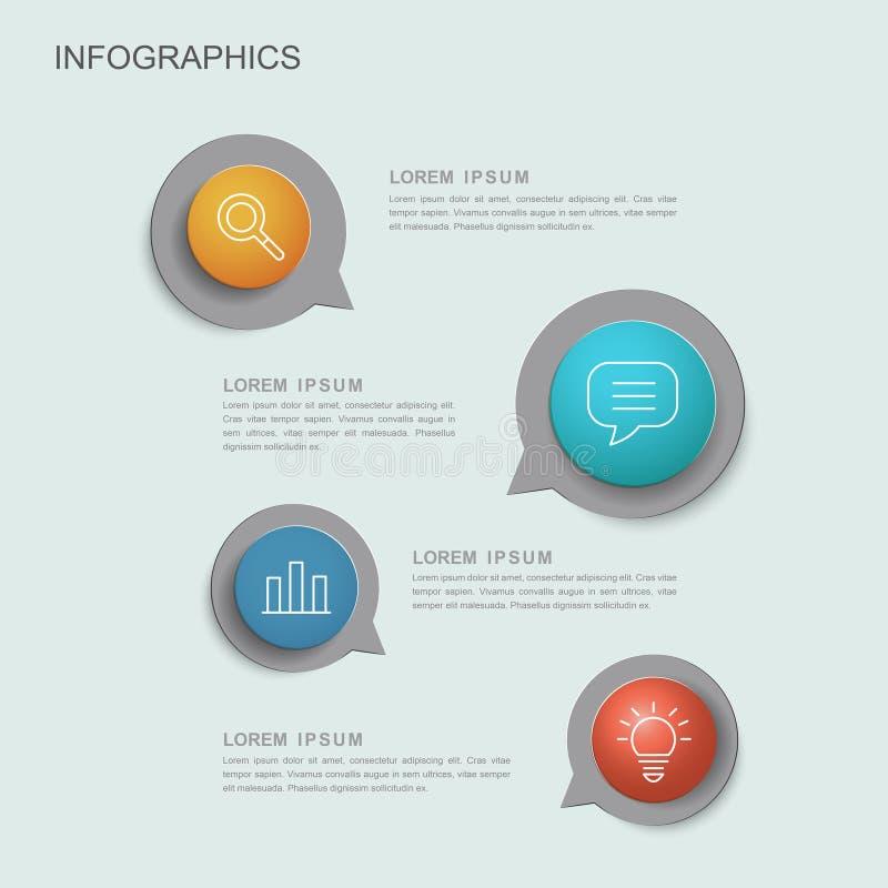 创造性的Infographic模板 库存例证