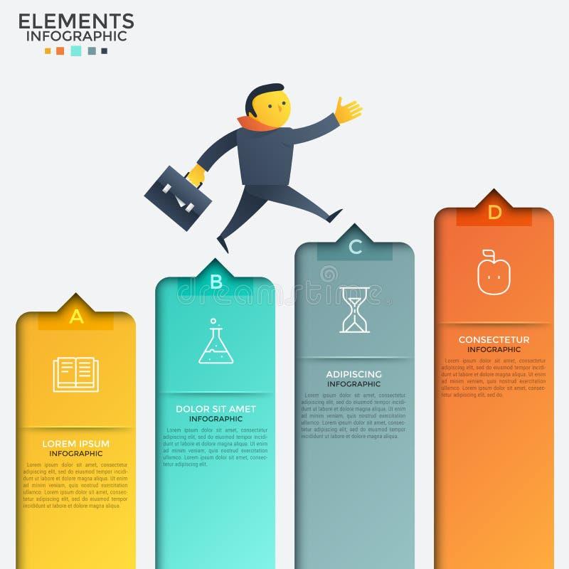 创造性的infographic设计模板 皇族释放例证