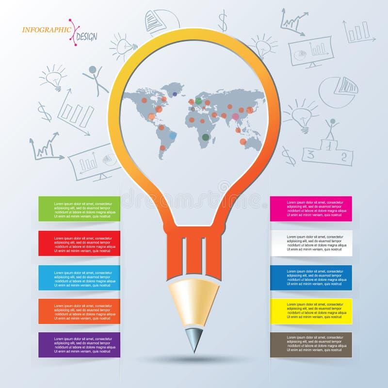 创造性的infographic设计,可以为企业小册子使用 库存例证