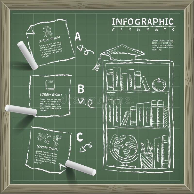 创造性的infographic设计 向量例证