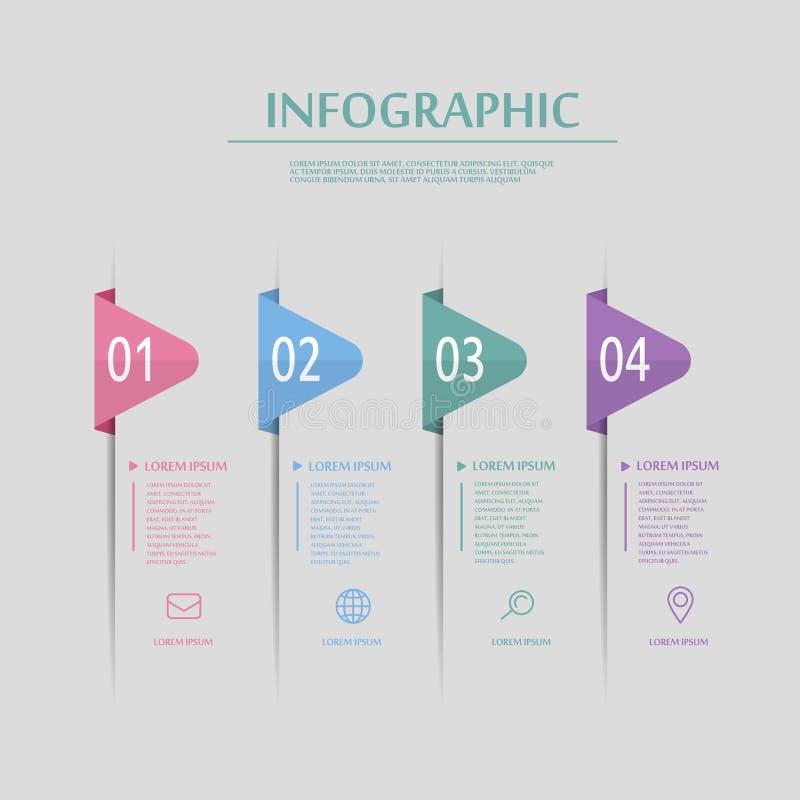 创造性的infographic设计 皇族释放例证