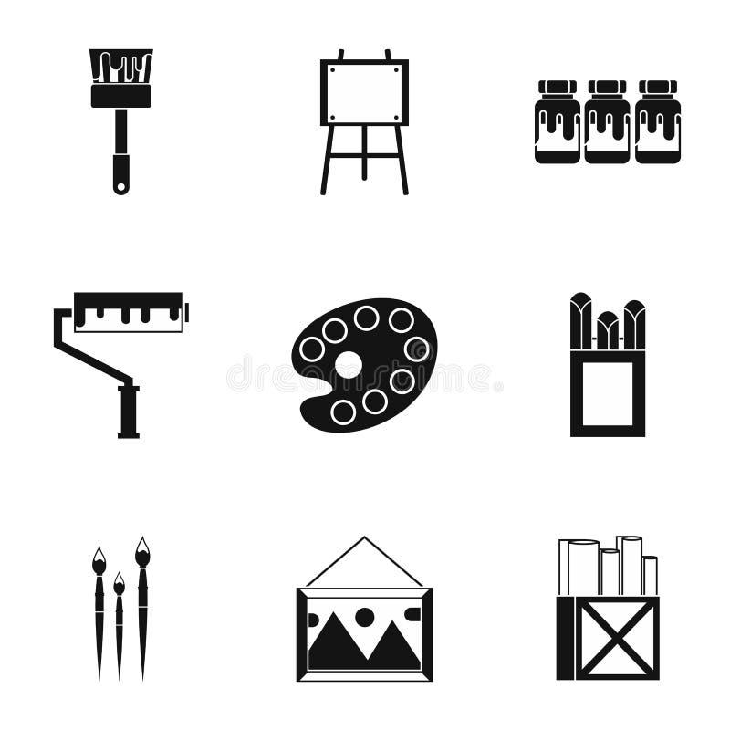 创造性被设置的艺术象,简单的样式 向量例证