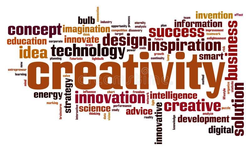 创造性词云彩 向量例证