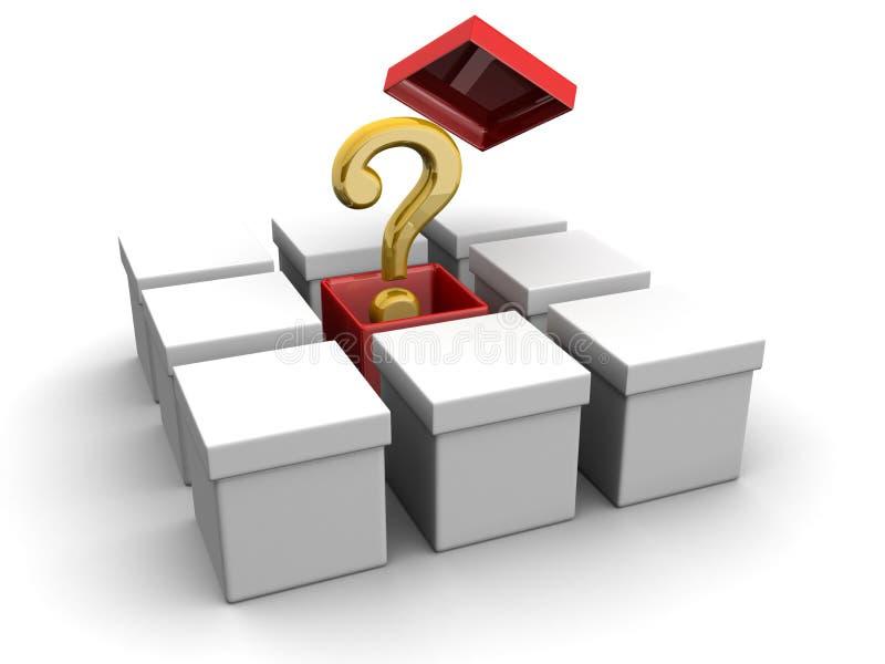 创造性配件箱的概念仔细考虑 皇族释放例证