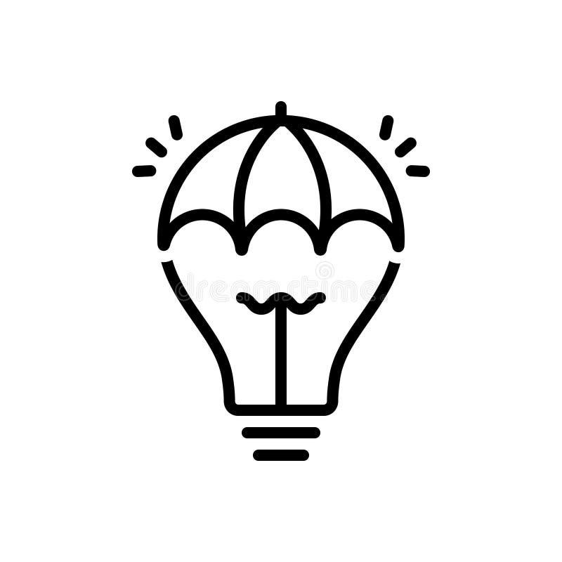 创造性,天才和聪明的黑线象 库存例证