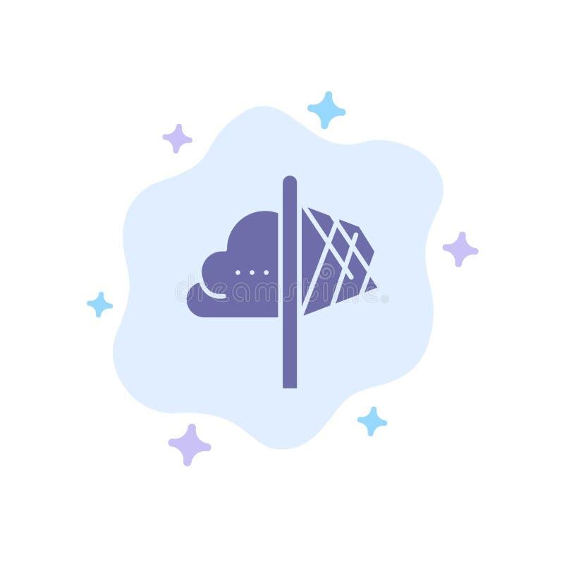 创造性,想法,想象力,洞察,在抽象云彩背景的启发蓝色象 皇族释放例证