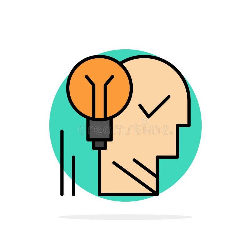 创造性,脑子,想法,电灯泡,头脑,个人,力量,成功抽象圈子背景平的颜色象 向量例证