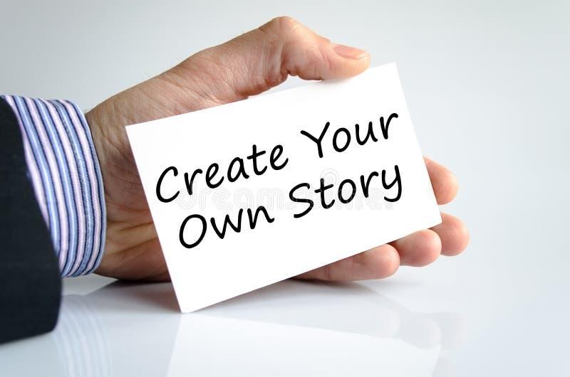 创造您自己的故事文本概念 免版税库存照片