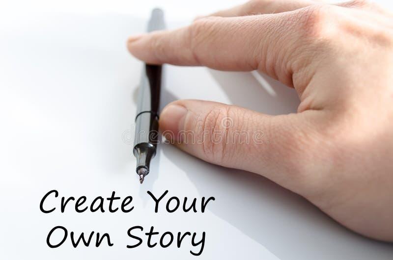 创造您自己的故事文本概念 库存照片