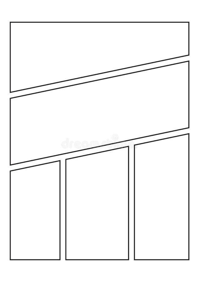创造您自己的漫画 库存例证