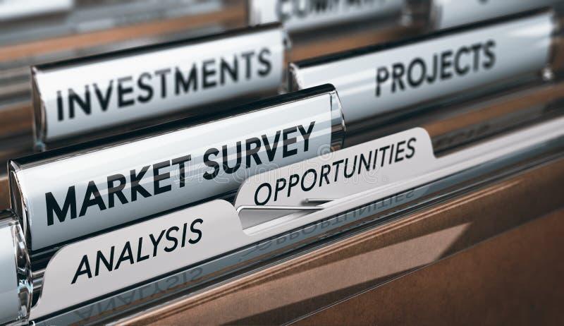 创造新的事务,品行市场调查发现Opportunit 向量例证