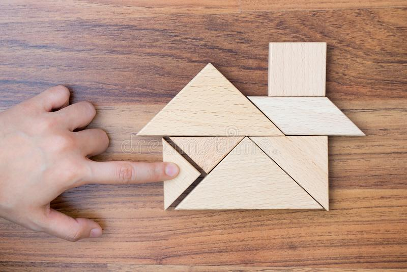 创造的或修造的梦想家庭概念 免版税库存图片