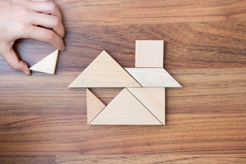 创造的或修造的梦想家庭概念 库存照片