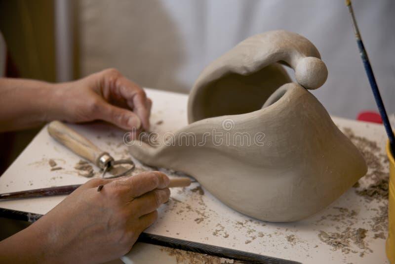 创建雕塑 库存照片