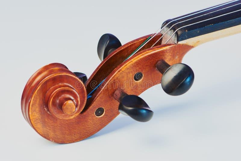 删去小提琴纸卷 免版税库存图片