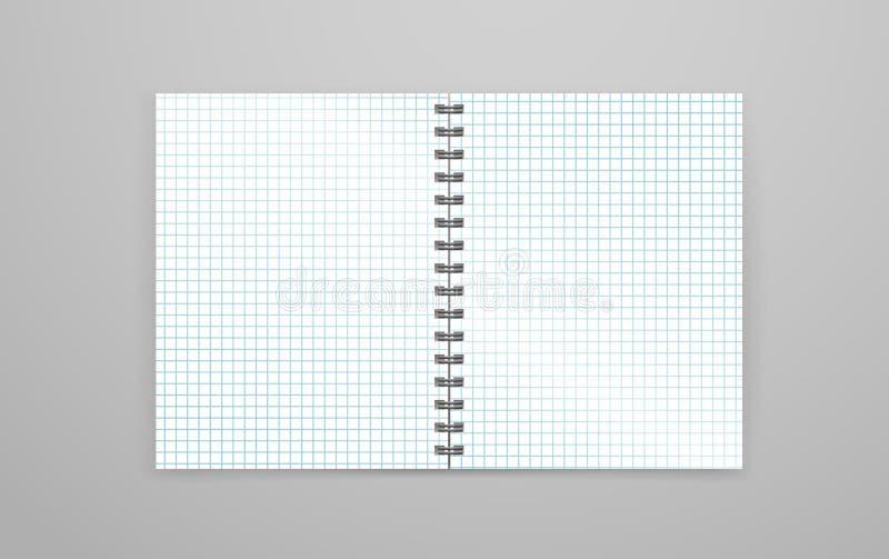 删去开放白色笔记本传染媒介例证 库存例证