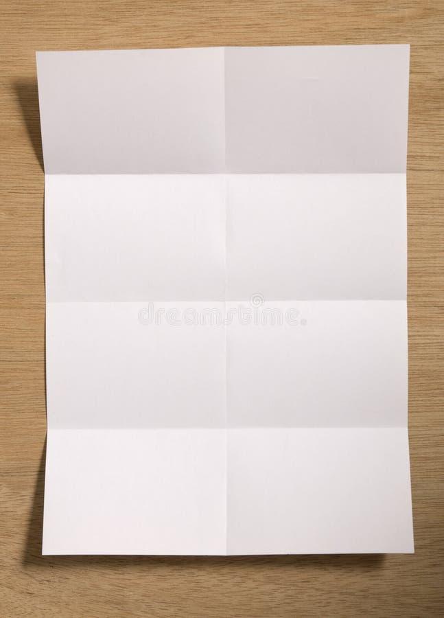 删去被折叠的纸张 免版税库存图片