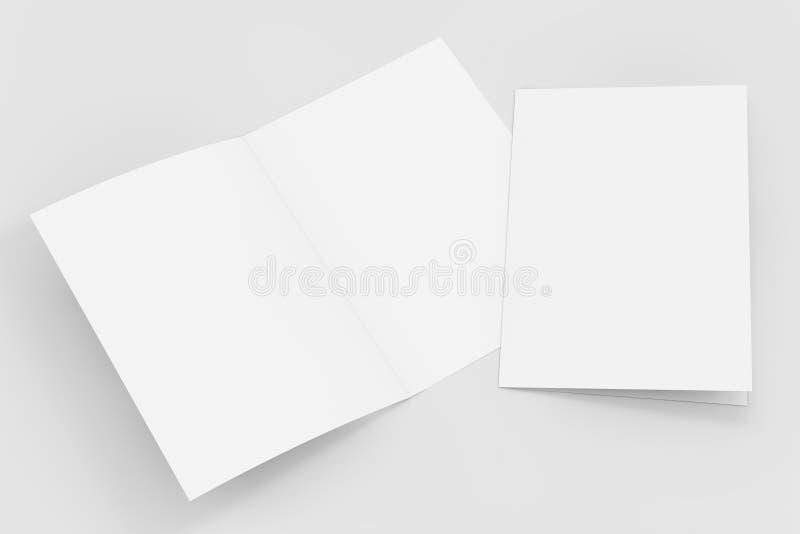 删去被折叠的飞行物小册子 3d翻译 皇族释放例证