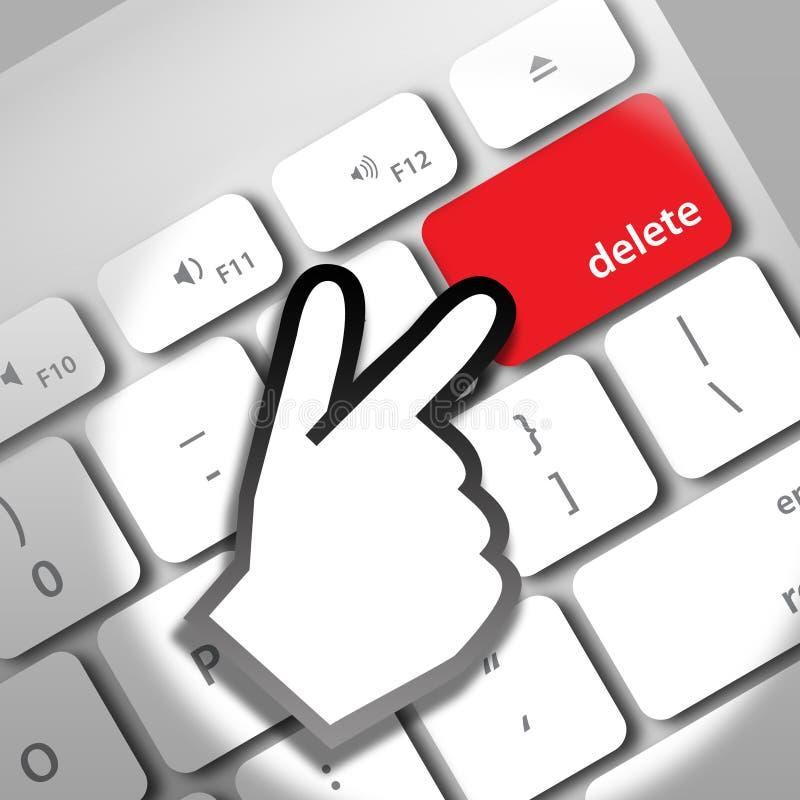 删除计算机键盘 库存例证