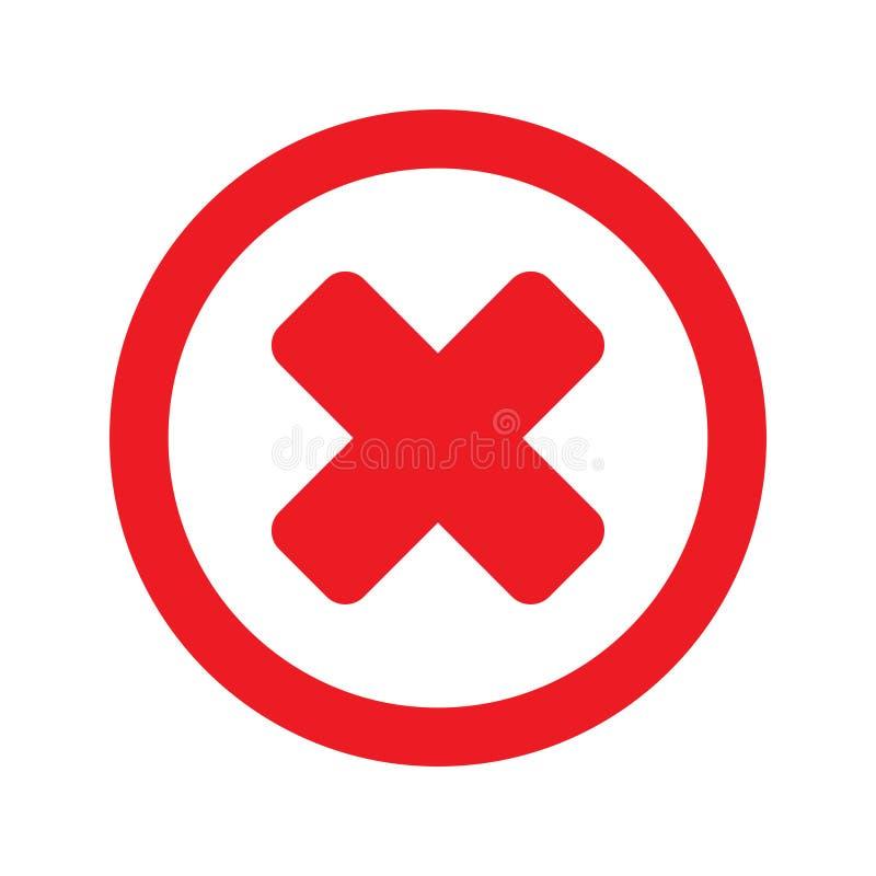 删除象,接近的标志传染媒介,没有标志,取消标志、错误和废弃物例证 向量例证