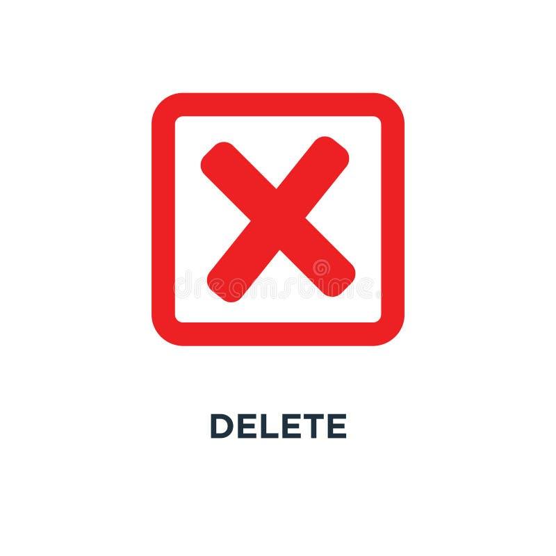 删除象 没有标志,结束,取消,冤屈和拒绝sy的概念 向量例证