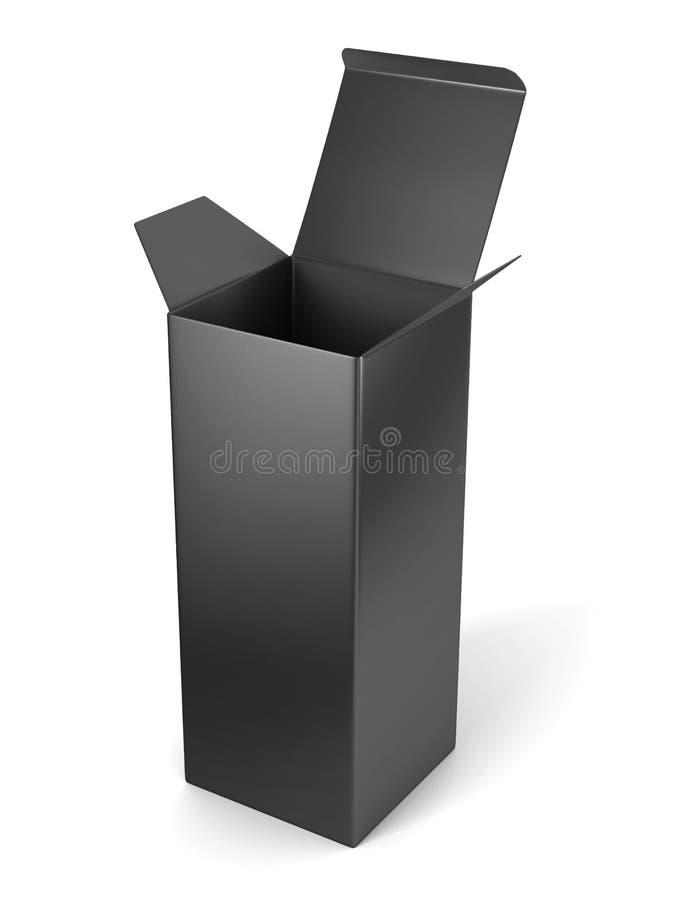 删去开放垂直的纸板箱模板身分 皇族释放例证