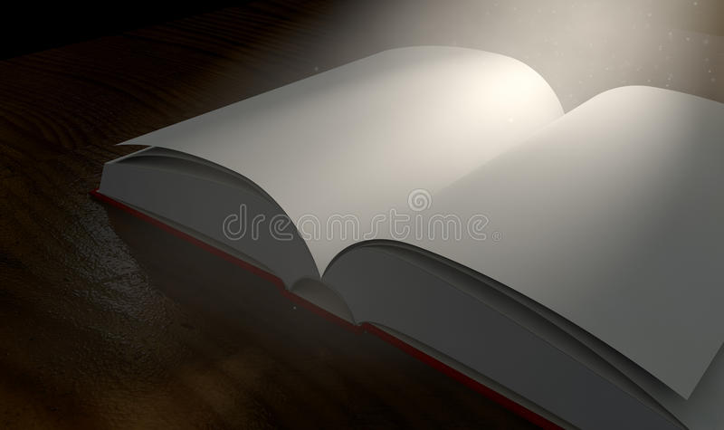 删去被呼叫的书开放聚光灯 皇族释放例证