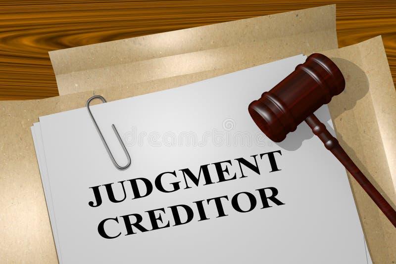 判定债权人概念 库存例证