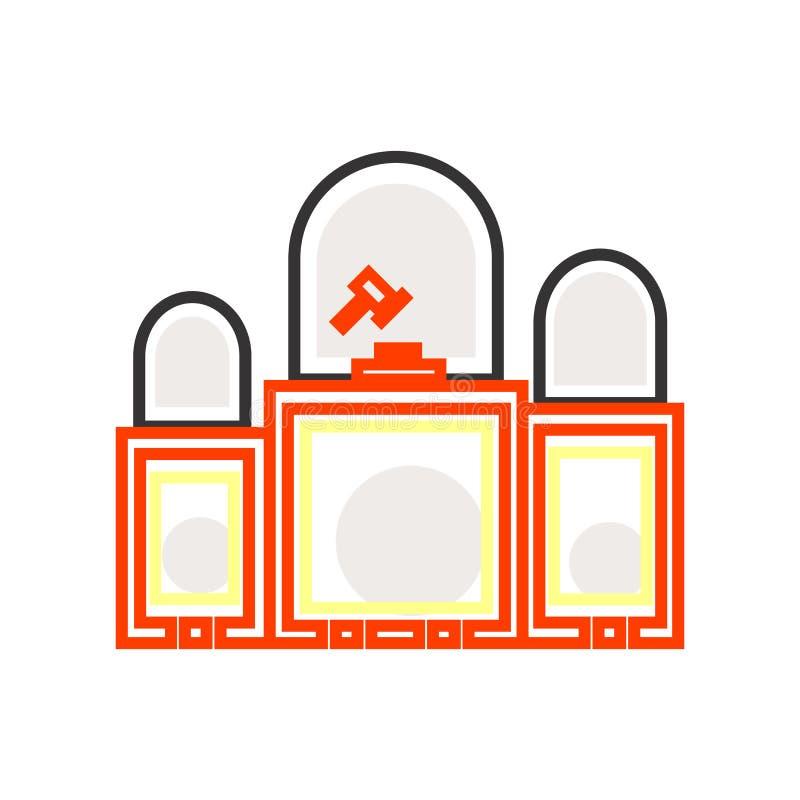 判断象在白色背景和标志隔绝的传染媒介标志,判断商标概念 皇族释放例证