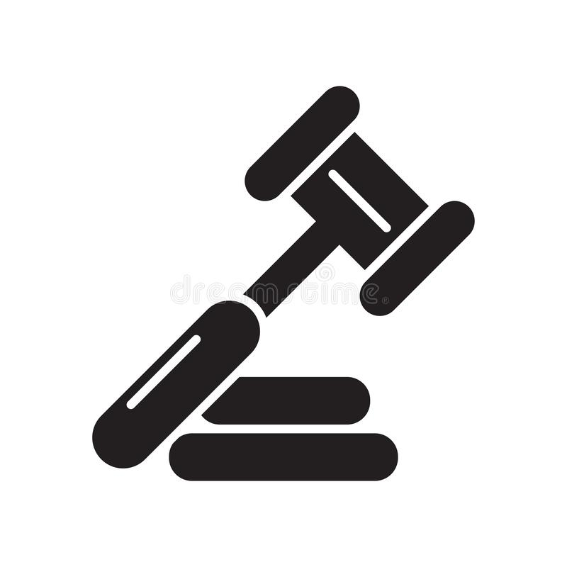 判断象被隔绝在白色背景 库存例证