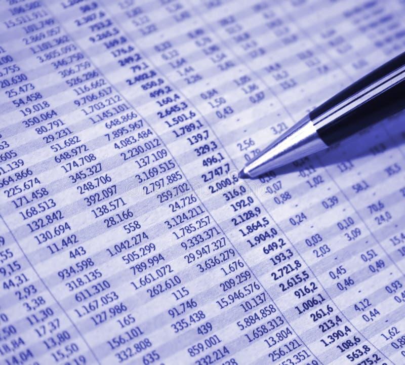 判断财务 免版税图库摄影