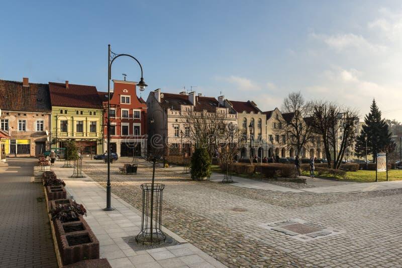 利兹巴克Warminski,古镇大广场  免版税库存图片