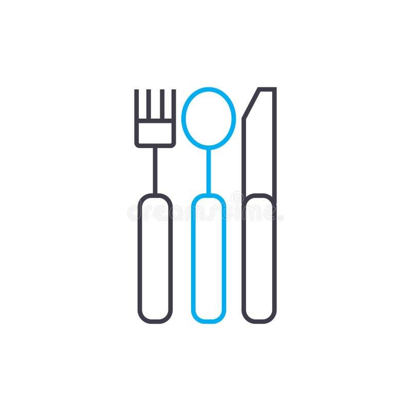 利器线性象概念 利器线传染媒介标志,标志,例证 库存例证