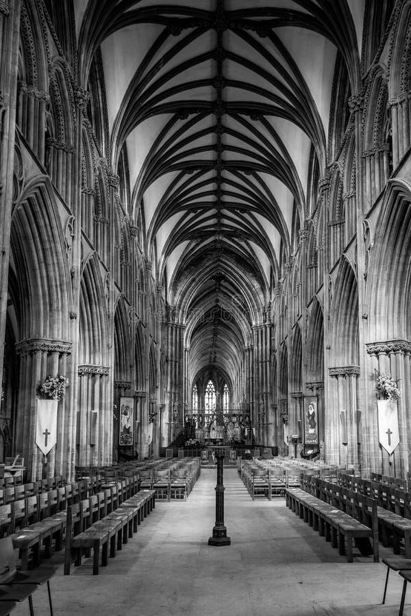 利奇菲尔德大教堂 免版税库存图片