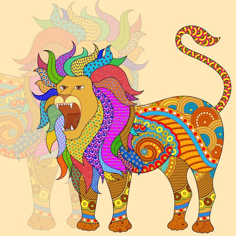 利奥占星术黄道带标志 皇族释放例证