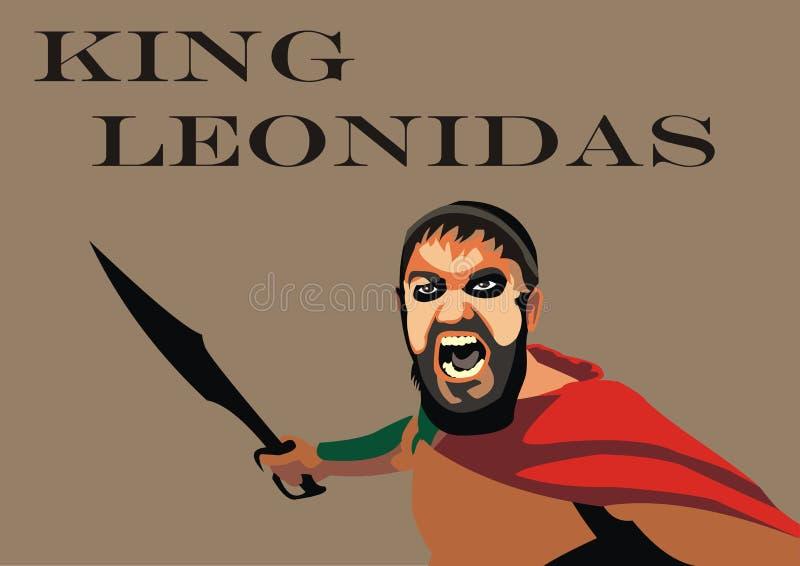 利奥尼达斯传染媒介 图库摄影